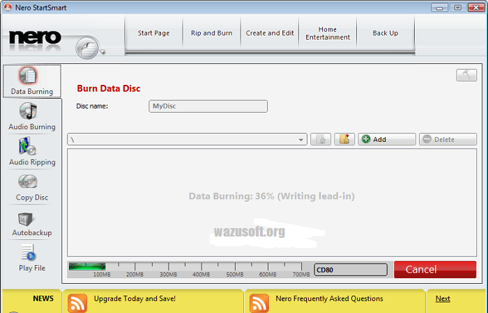 Nero Burning ROM Crack - wazusoft.org