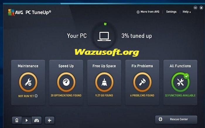 AVG PC TuneUp Latest - Wazusoft.org