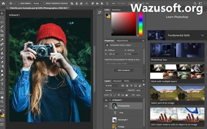 Adobe Photoshop CC Crack - Wazusoft.org