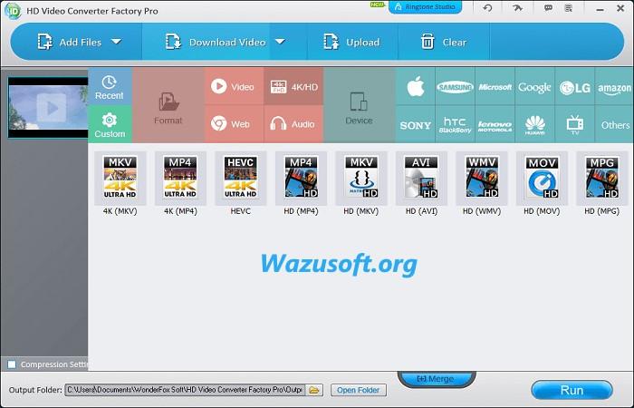 HD Video Converter Factory Pro Crack Latest - Wazusoft.org