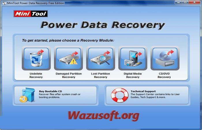 MiniTool Power Data Recovery Crack - wazusoft.org